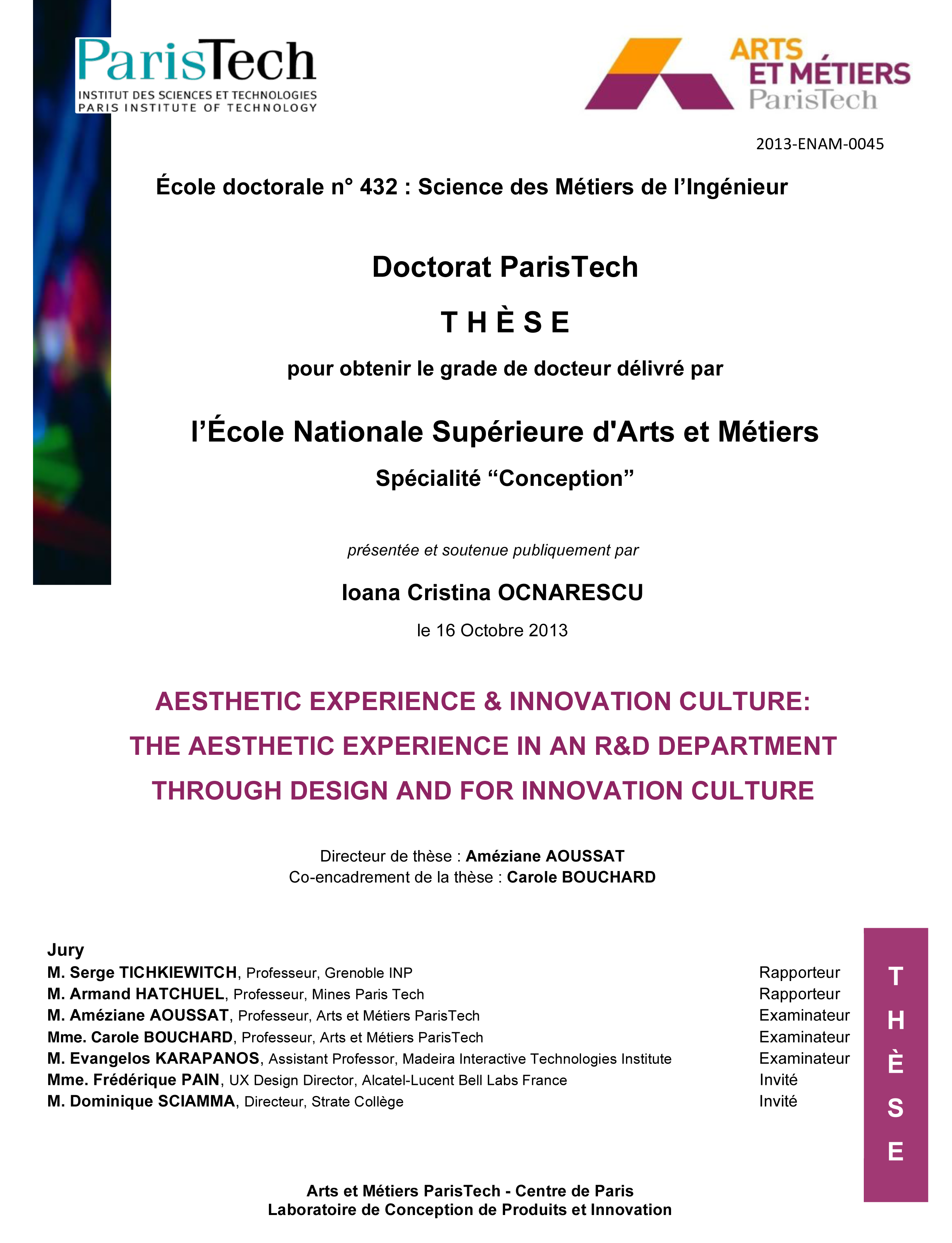 First Strate PhD online Thèse de doctorat en ligne
